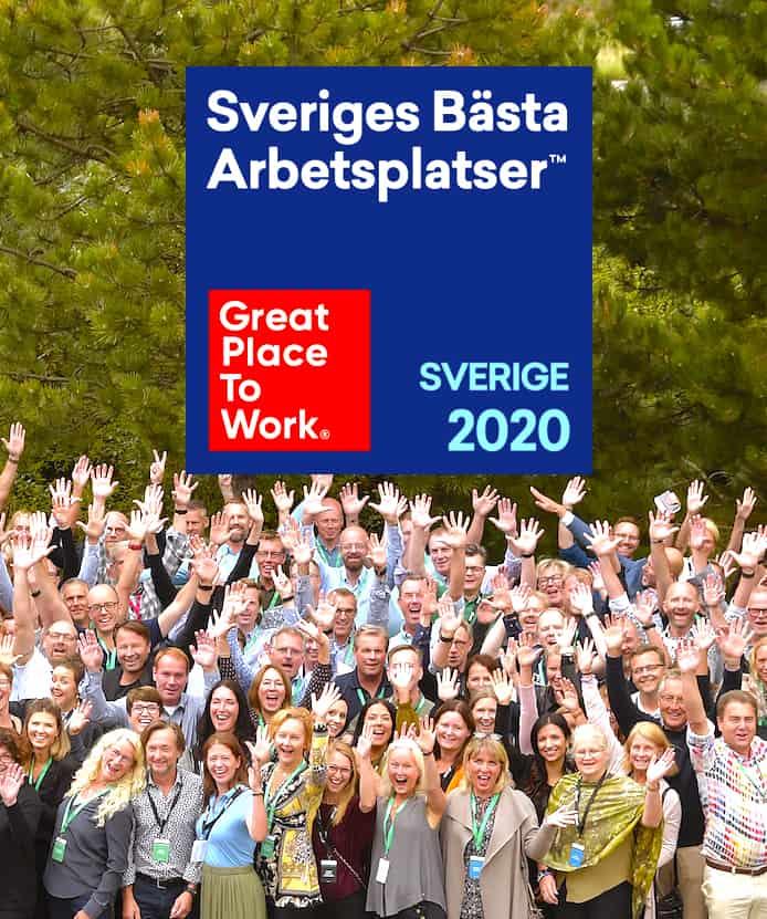 En av Sveriges bästa arbetsplatser